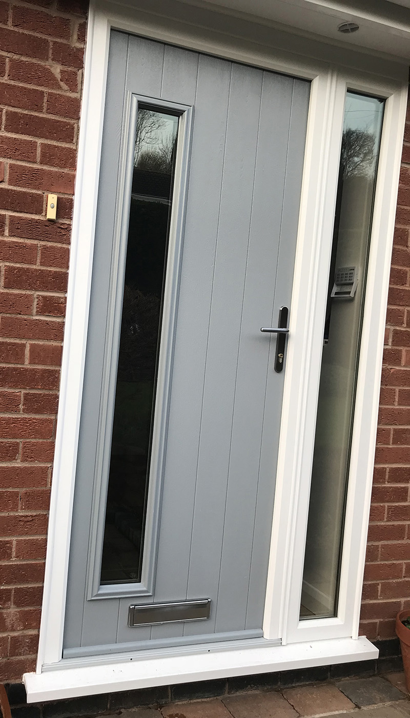 Composite Front Door French Grey Bressica, Radcliffe-on-Trent