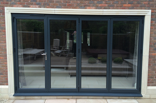 Aluminium Grey Bi Fold Doors, West Bridgford, Nottingham
