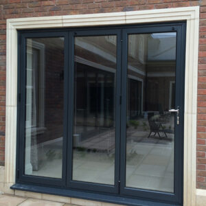 Aluminium Grey Bi-Fold Doors, West Bridgford, Nottingham