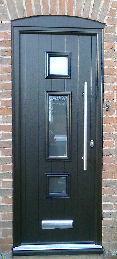 Composite Door, Black Genoa, Leicester, 033