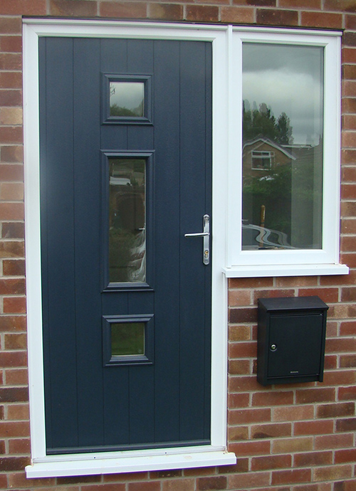 Composite Door, Grey Genoa, Keyworth, 019