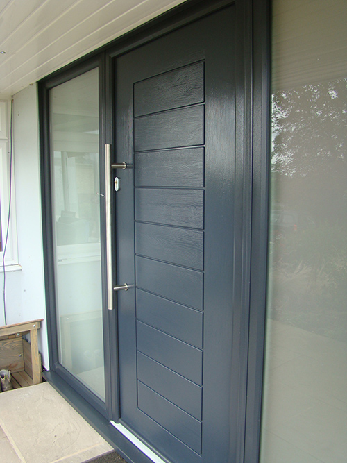 Composite Front Door Grey Palermo Keyworth