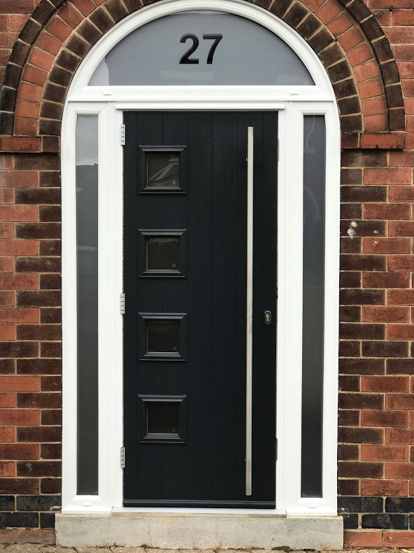 Composite Door, Milano Grey Arch Door, Nottingham, 133