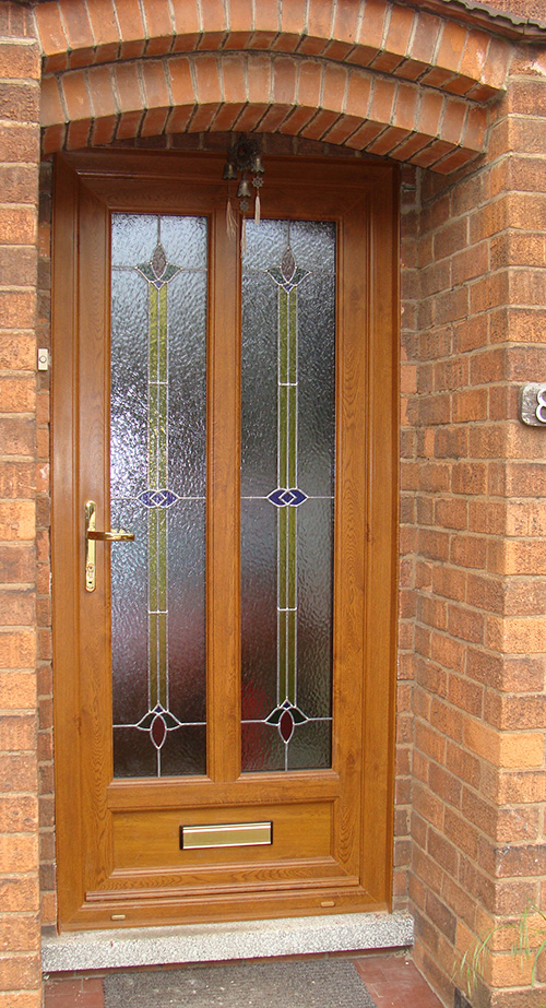 uPVC Front Door Oak, West Bridgford