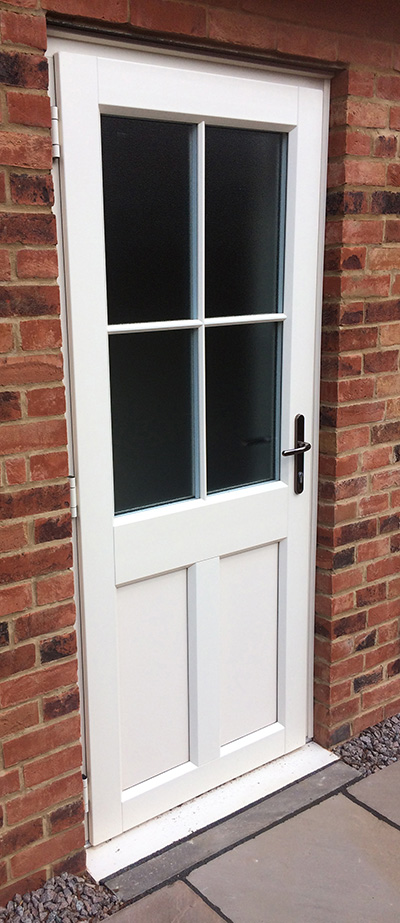 uPVC Rear Door White Evo Thorley, Newark