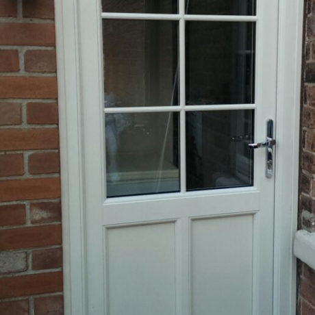 uPVC Back Door, White, Nottingham, D&M, 115