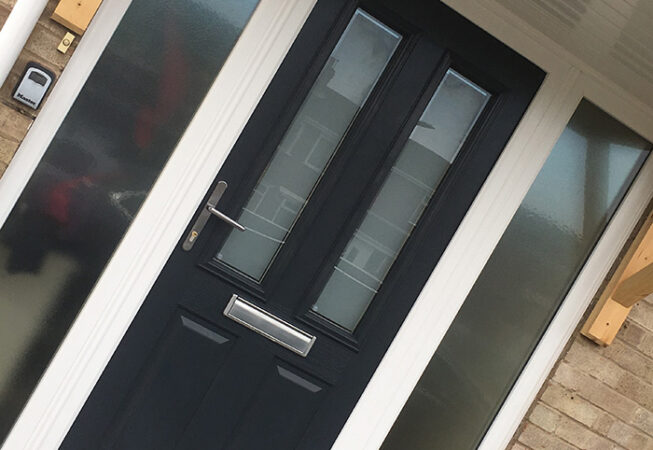 Composite Door, Blue Ludlow, East Leake, Leicester, D&M, 153