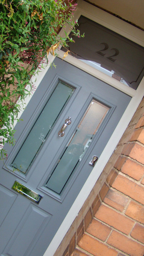 Composite Door French Grey Ludlow House Number West Bridgford D&M 147