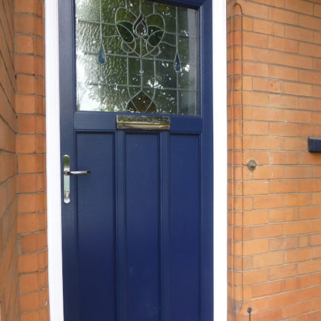 uPVC Door, Blue, Stained Glass, Nottingham, D&M, 126