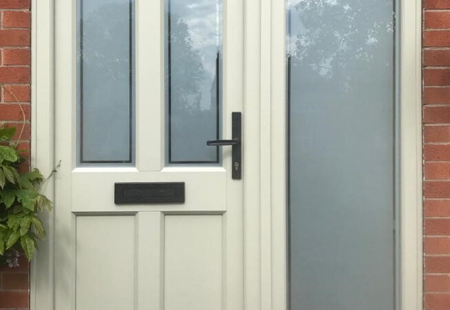 uPVC Door, Evo Ashwell, Front Door, Olive Grey, Nottingham, D&M, 101