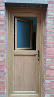uPVC Door With Tiltnturn, Irish Oak, Nottingham, D&M, 124