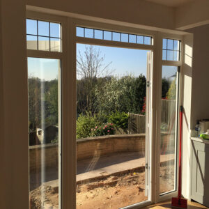 French Door, White Foiled, Evolution, Timber-Look Joint, Nottingham