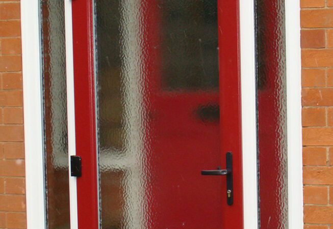 uPVC Front Door Arch Red Door, Leicester, D&M, 114