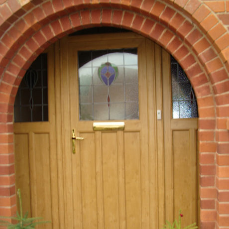 uPVC Front Door, Irish Oak, Wymeswold, D&M, 131
