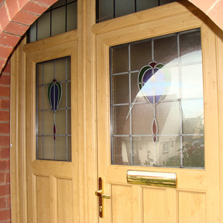 uPVC Front Door, Irish Oak, Wymeswold, D&M, 132