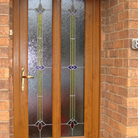 uPVC Front Door, Oak, West Bridgford, D&M, 138
