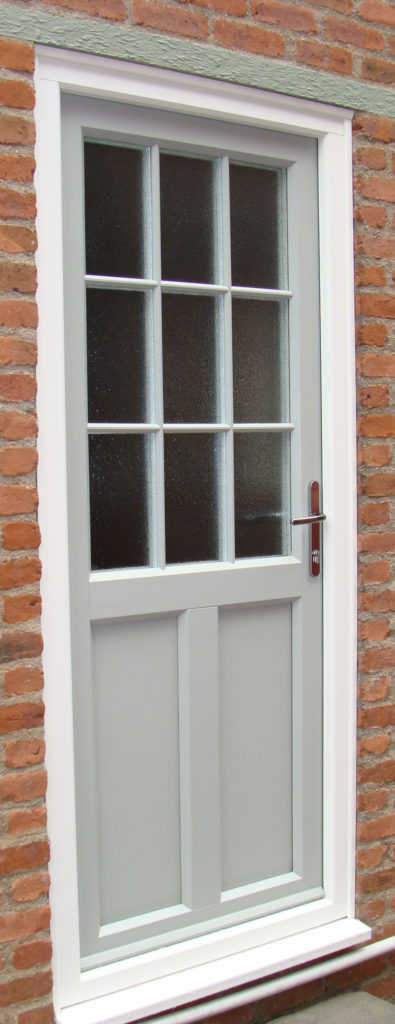 uPVC Rear Door, Evo, Standon, Agate Grey, Leicester, D&M, 112