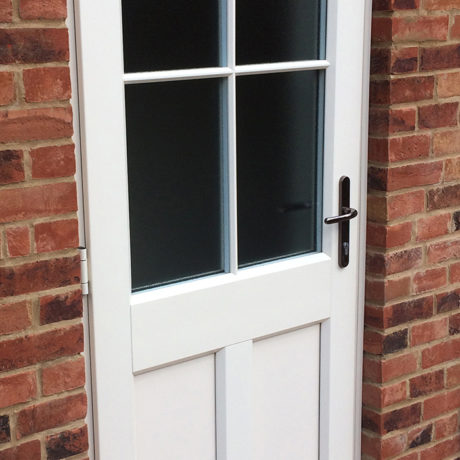 uPVC Rear Door, White, Evo, Thorley, Newark, D&M, 113