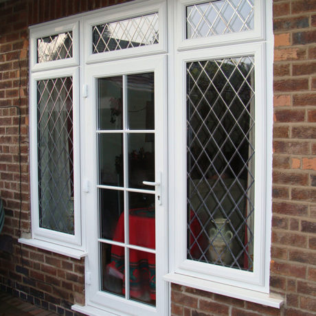 uPVC Rear Door, White, Lead, Georgian, Wollaton, D&M, 142