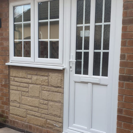 uPVC Door, White, Georgian, Sutton Bonington, D&M, 105