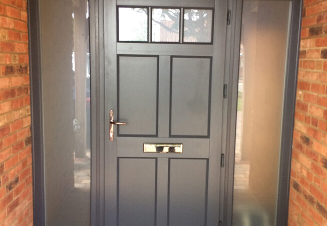 uPVC Front Door, Evo, Ballingdon, Grey, Newark, D&M, 100