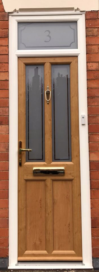 uPVC Front Door, Irish Oak, Loughborough, D&M, 139