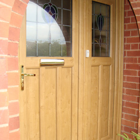 uPVC Front Door, Irish Oak, Wymeswold, D&M, 133