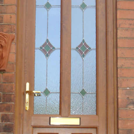 uPVC Front Door, Oak, Arnold, Nottingham, D&M, 134