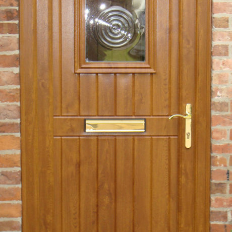 uPVC Front Door, Oak, Panelled Door, Nottingham, D&M, 140