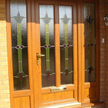 uPVC Front Door, Oak, West Bridgford, D&M, 136