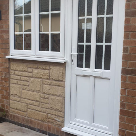 uPVC Front Door, White Georgian, Leicester, D&M, 116
