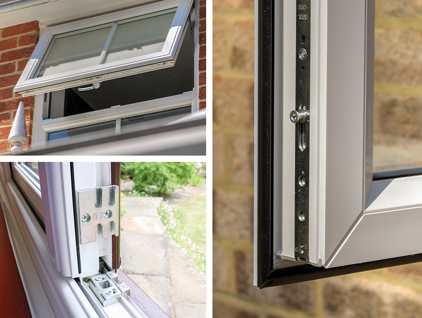 uPvc modern window with high security
