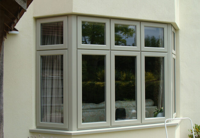 uPVC Bay, Olive Grey, Storm2, Evolution, Wysall, Leicester, 502