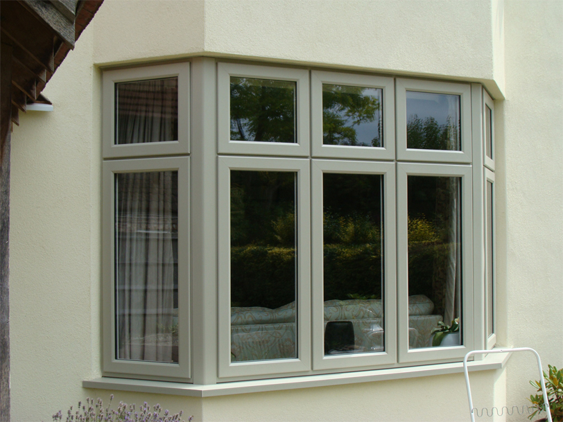 uPVC Bay Olive Grey Storm2 Evolution Wysall Leicester 502