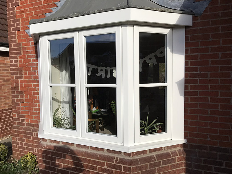 uPVC Bay White Foiled Evolution TimberLook Joint Storm2 Leicester D&M 514