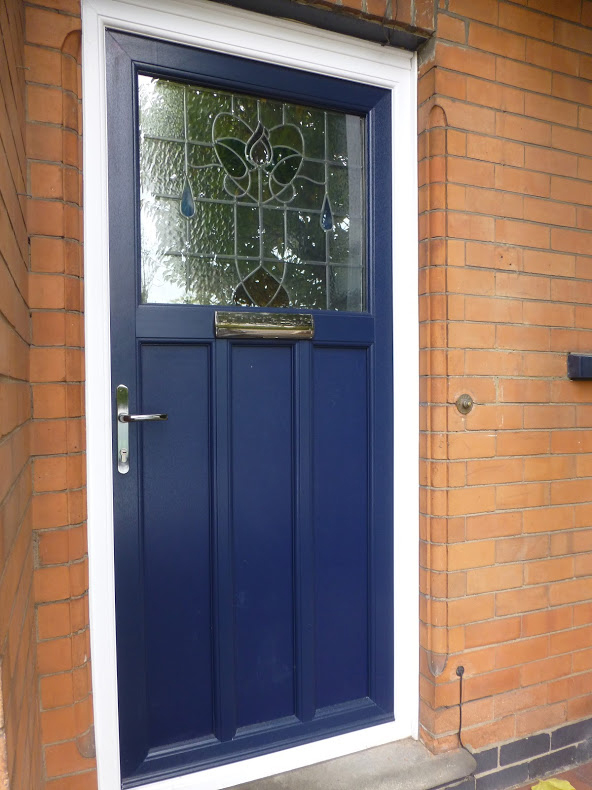 Door Blue Stained Glass Nottingham 126